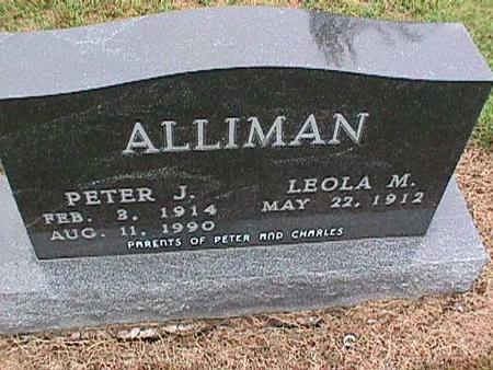 ALLIMAN, PETER - Washington County, Iowa | PETER ALLIMAN