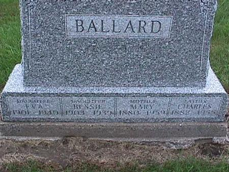 BALLARD, MARY - Washington County, Iowa | MARY BALLARD