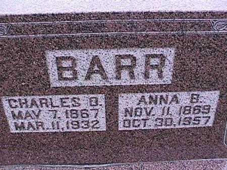 BARR, ANNA - Washington County, Iowa | ANNA BARR
