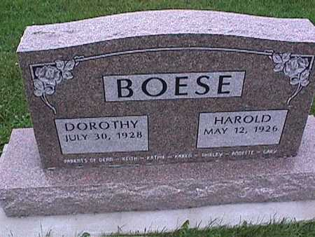 BOESE, DOROTHY - Washington County, Iowa | DOROTHY BOESE