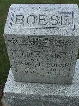 BAIN BOESE, LELA - Washington County, Iowa | LELA BAIN BOESE