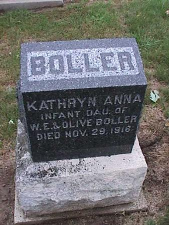 BOLLER, KATHRYN ANNA - Washington County, Iowa | KATHRYN ANNA BOLLER