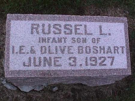 BOSHART, RUSSEL - Washington County, Iowa | RUSSEL BOSHART