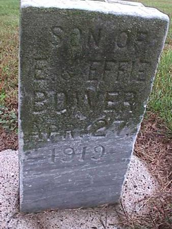 BOWER, SON OF E AND EFFIE - Washington County, Iowa | SON OF E AND EFFIE BOWER