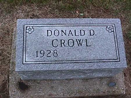 CROWL, DONALD - Washington County, Iowa | DONALD CROWL