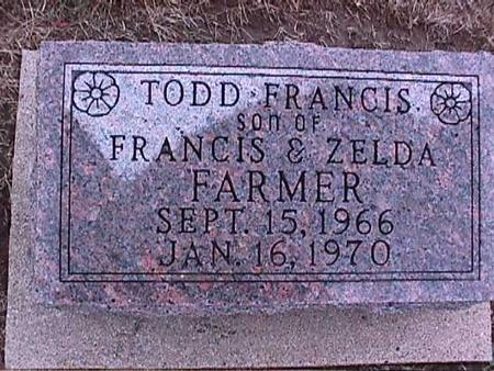 FARMER, TODD FRANCIS - Washington County, Iowa | TODD FRANCIS FARMER