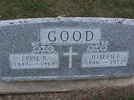 GOOD, EFFIE - Washington County, Iowa | EFFIE GOOD
