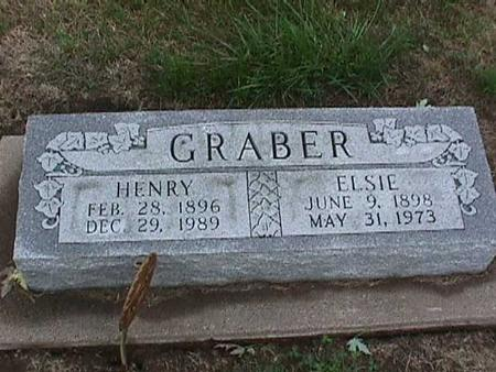 GRABER, ELSIE - Washington County, Iowa | ELSIE GRABER