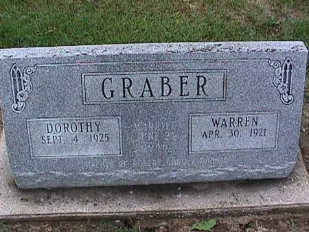 GRABER, DOROTHY - Washington County, Iowa | DOROTHY GRABER