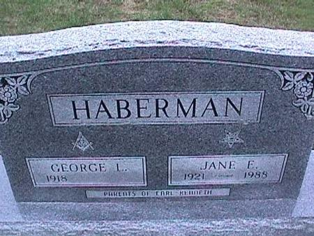 HABERMAN, GEORGE - Washington County, Iowa | GEORGE HABERMAN