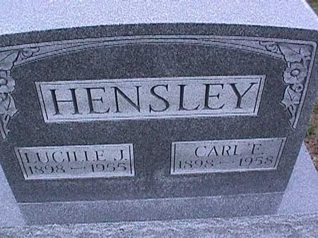 HENSLEY, LUCILLE - Washington County, Iowa | LUCILLE HENSLEY