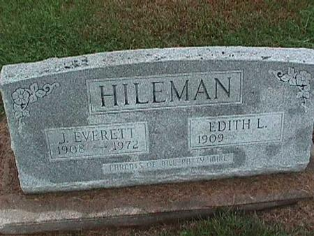 HILEMAN, EDITH - Washington County, Iowa | EDITH HILEMAN