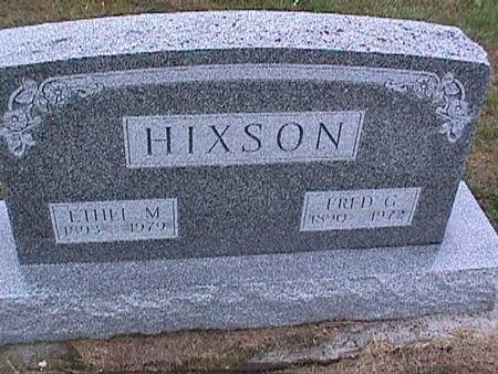 HIXSON, ETHEL - Washington County, Iowa | ETHEL HIXSON