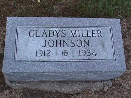 MILLER JOHNSON, GLADYS - Washington County, Iowa   GLADYS MILLER JOHNSON