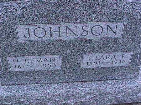 JOHNSON, CLARA - Washington County, Iowa | CLARA JOHNSON