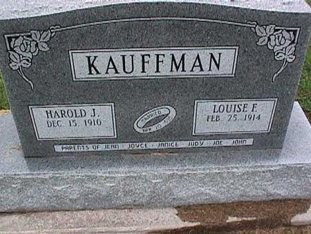 KAUFFMAN, HAROLD - Washington County, Iowa | HAROLD KAUFFMAN