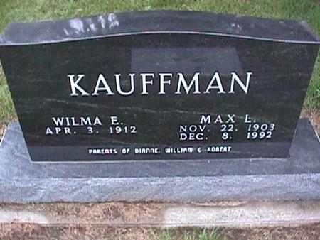 KAUFFMAN, MAX - Washington County, Iowa | MAX KAUFFMAN