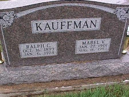 KAUFFMAN, RALPH - Washington County, Iowa | RALPH KAUFFMAN