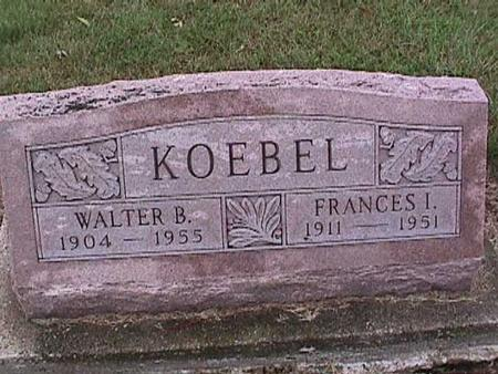 KOEBEL, FRANCES - Washington County, Iowa | FRANCES KOEBEL