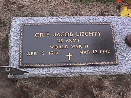 LIECHTY, ORIE JACOB - Washington County, Iowa | ORIE JACOB LIECHTY