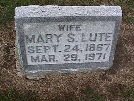 LUTE, MARY - Washington County, Iowa | MARY LUTE
