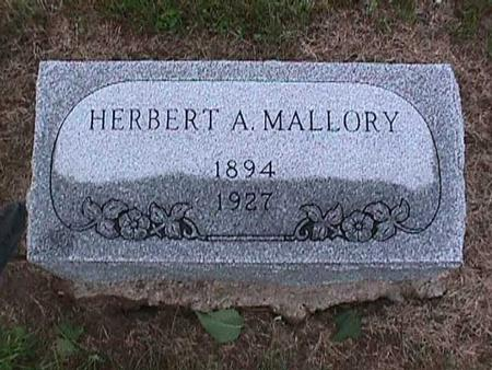 MALLORY, HERBERT - Washington County, Iowa | HERBERT MALLORY