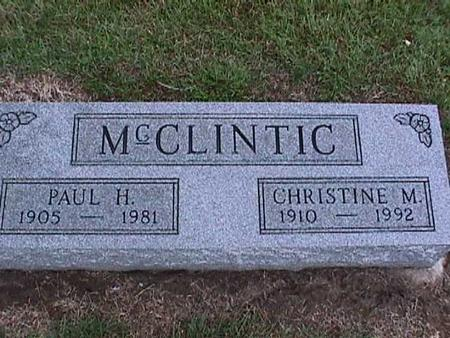 MCCLINTIC, CHRISTINE - Washington County, Iowa | CHRISTINE MCCLINTIC