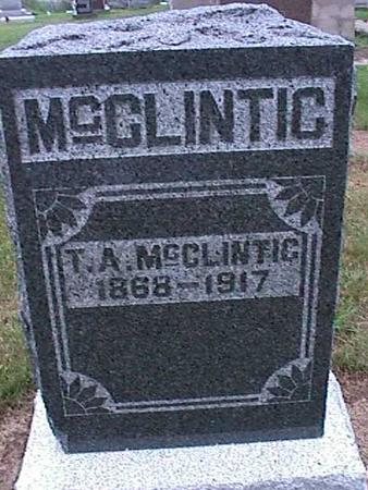 MCCLINTIC, T. A. - Washington County, Iowa | T. A. MCCLINTIC