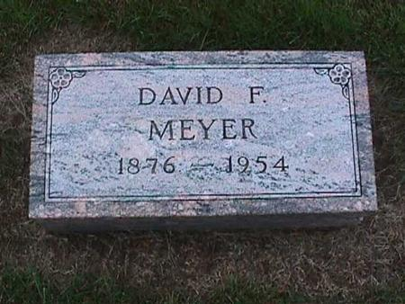 MEYER, DAVID - Washington County, Iowa | DAVID MEYER