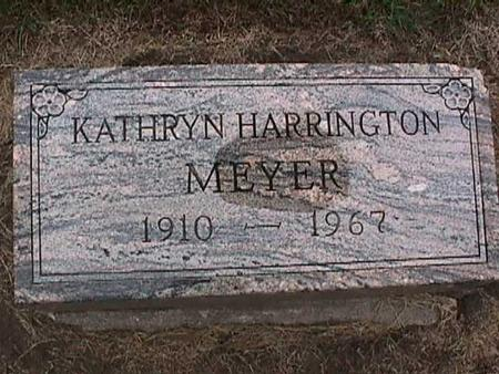 HARRINGTON MEYER, KATHRYN - Washington County, Iowa | KATHRYN HARRINGTON MEYER