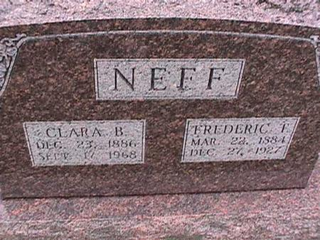 NEFF, CLARA - Washington County, Iowa | CLARA NEFF