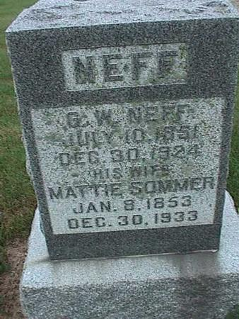 NEFF, G. W. - Washington County, Iowa | G. W. NEFF