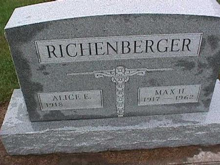 RICHENBERGER, ALICE - Washington County, Iowa | ALICE RICHENBERGER