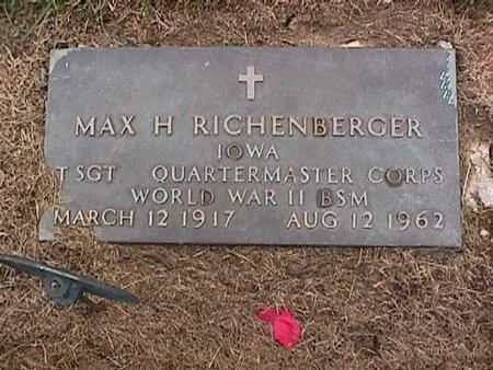 RICHENBERGER, MAX - Washington County, Iowa | MAX RICHENBERGER