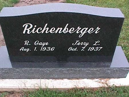 RICHENBERGER, JERRY L. - Washington County, Iowa | JERRY L. RICHENBERGER