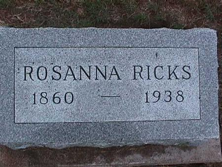 RICKS, ROSANNA - Washington County, Iowa | ROSANNA RICKS