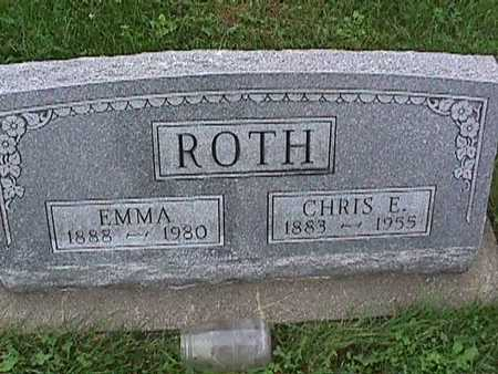 ROTH, EMMA - Washington County, Iowa | EMMA ROTH
