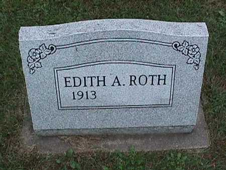 ROTH, EDITH A. - Washington County, Iowa | EDITH A. ROTH