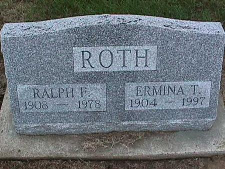 ROTH, ERMINA - Washington County, Iowa | ERMINA ROTH