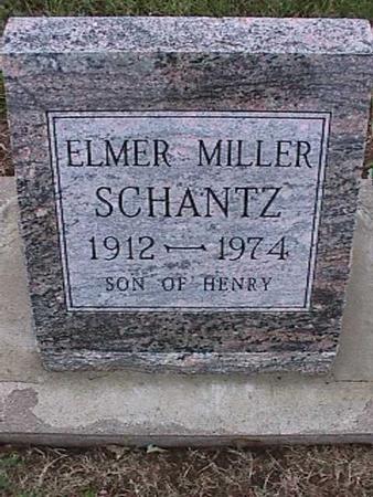 SCHANTZ, ELMER MILLER - Washington County, Iowa | ELMER MILLER SCHANTZ