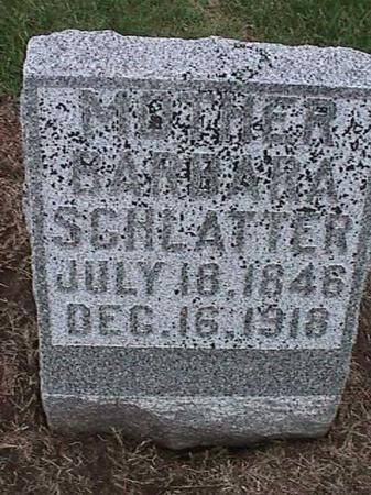 SCHLATTER, BARBARA - Washington County, Iowa   BARBARA SCHLATTER