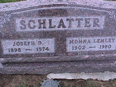 SCHLATTER, MONNA - Washington County, Iowa | MONNA SCHLATTER