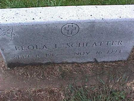 SCHLATTER, LEOLA - Washington County, Iowa | LEOLA SCHLATTER