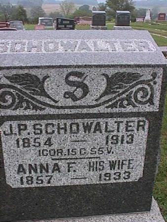 SCHOWALTER, J. P. - Washington County, Iowa | J. P. SCHOWALTER
