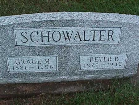 SCHOWALTER, PETER - Washington County, Iowa | PETER SCHOWALTER