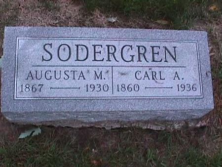SODERGREN, AUGUSTA - Washington County, Iowa | AUGUSTA SODERGREN