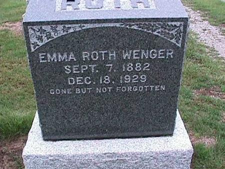 ROTH WENGER, EMMA - Washington County, Iowa | EMMA ROTH WENGER
