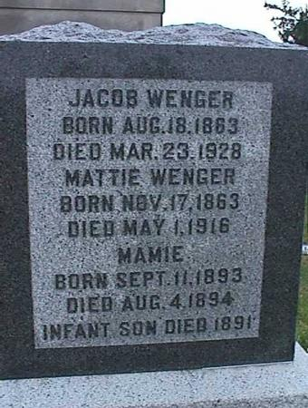 WENGER, INFANT SON - Washington County, Iowa | INFANT SON WENGER