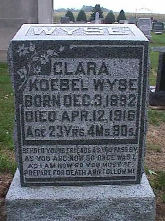 KOEBEL WYSE, CLARA - Washington County, Iowa | CLARA KOEBEL WYSE