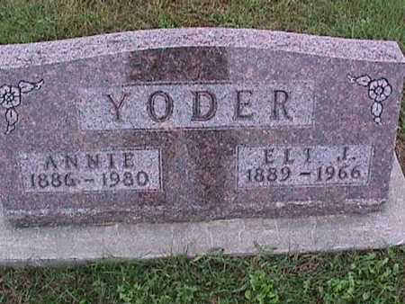 YODER, ANNIE - Washington County, Iowa | ANNIE YODER
